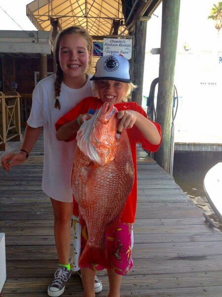 Kids With Their Red Snapper