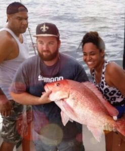 Customers go offshore fishing for Red Snapper
