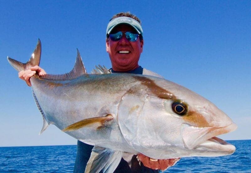 Lesser Amberjack Caught on Fly Rod