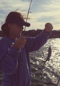 Redfish Caught During Fishing School