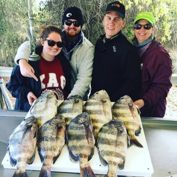 Guest with Sheepshead Catches