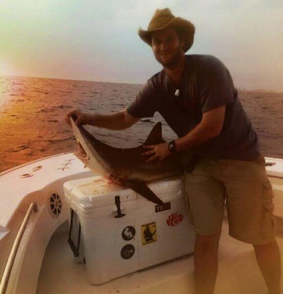 Juvenile Shark Caught Off Top Water