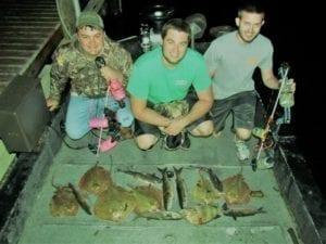 Successful Bowfishing Trip