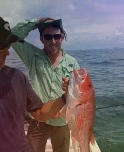 Guest Catching Red Snapper for the First Time