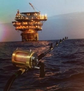 When you book a tuna trip with Intercoastal, we head out to the Oil Rigs on the Gulf Coast. It's a beautiful atmosphere out there.