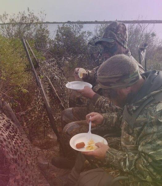 Hot Breakfast in Duck Blind