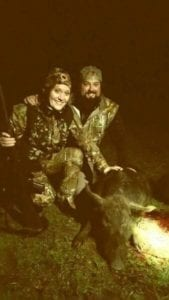 Stephen and His Wife Lauren With Their Wild Hog Kill