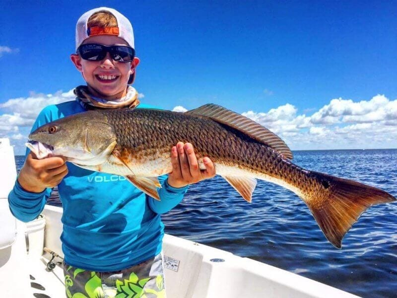 Redfish Caught by Boy on Pensacola Beach