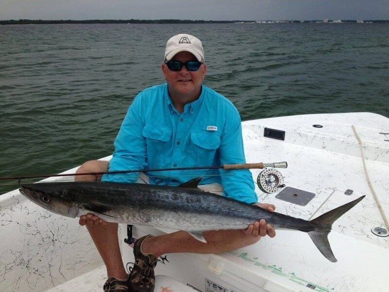 King Mackerel Caught While Offshore Fly Fishing