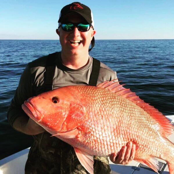 Hook Red Snapper Offshore