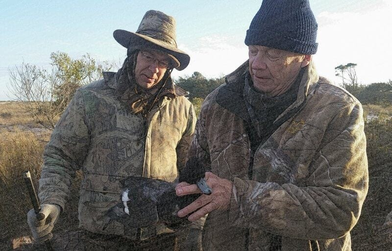 Clients Participating in Coastal Duck Hunting