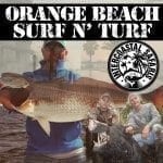 Giant Redfish and Wild Hogs caught on the Orange Beach Surf and Turf package from Intercoastal Safaris