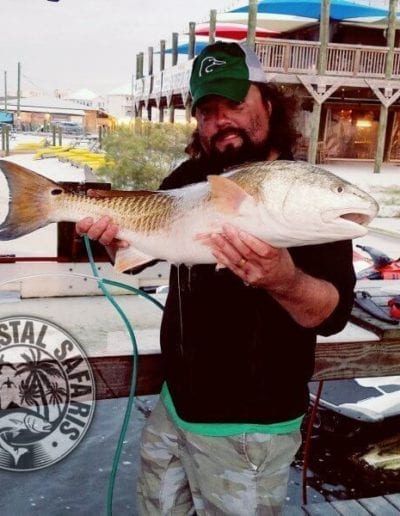 Stephen Lee Holding Huge Redfish